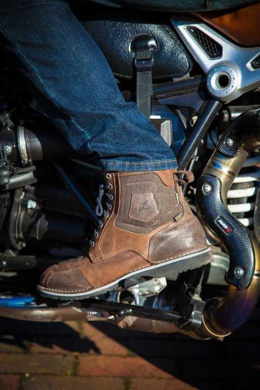 Falco Ranger Boots - Brown colour, Chelsea Motorbike Clothing Shop, UK