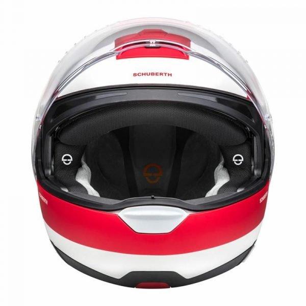 Schuberth C4 Pro Helmet - Fragment Red colour, UK