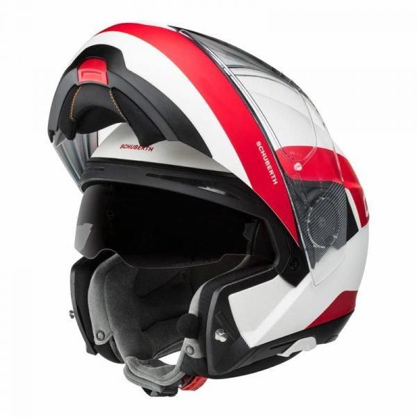 Schuberth C4 Pro Helmet - Fragment Red colour, Chelsea, MCS