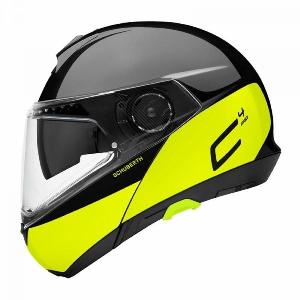 Schuberth C4 Pro Helmet - Swipe Yellow colour, Motorcycle Clothing Shop