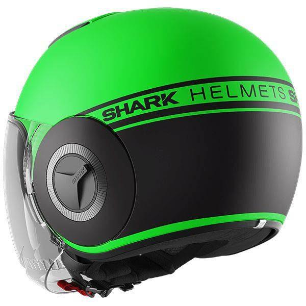Shark Nano Neon Helmet - GKK Matt Green colour, Motorcycle Clothing Shop, London