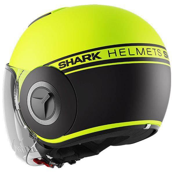 Shark Nano Neon Mat Helmet - YKK Matt Yellow colour, Chelsea