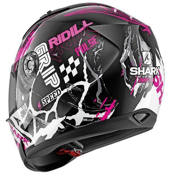 Shark Ridill Drift-R Helmet - Black/Violet/White colour, Chelsea, UK