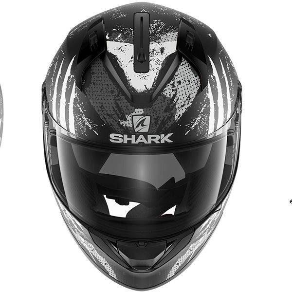 Shark Ridill Threezy Helmet - Matt Black/White/Anthracite colour, UK