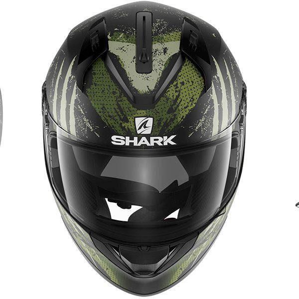 Shark Ridill Threezy Helmet - Matt Black/White/Green colour, Chelsea, London, UK