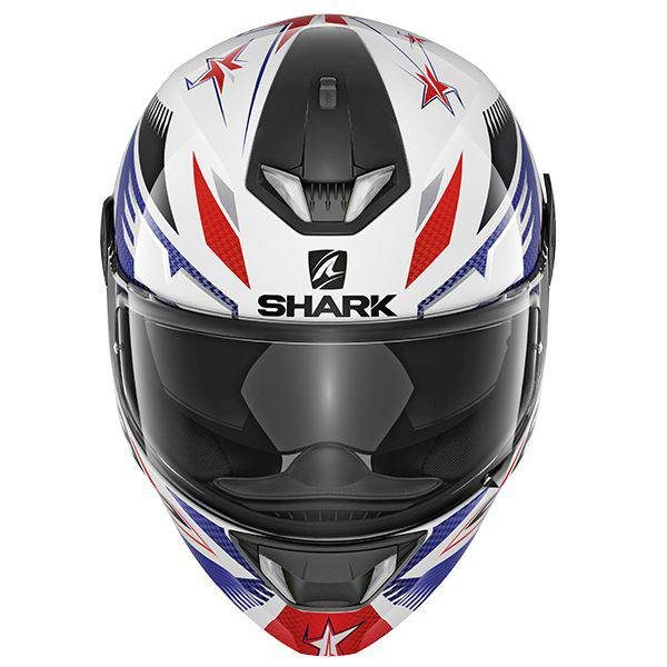 Shark Skwal 2 Draghal (Green LED) Helmet - White/Blue/Red colour, CMG - Chelsea Motorcycles Group Shop