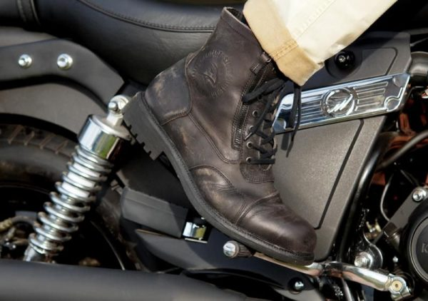 Falco Aviator Boots Dark Brown - Motorbike Clothing Shop