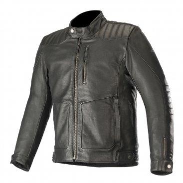 Alpinestars Crazy Eight Leather Jacket - Black colour, UK