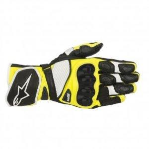 Alpinestars SP-1 v2 Gloves Black White & Yellow Fluo