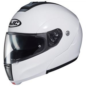 HJC C90 Plain White