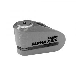 OXFORD Alpha XA14 Alarm Disc Lock(14mm pin) Stainless Stainless