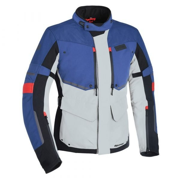 Oxford Mondial Clothing Jacket - Grey/Blue/Red colour, CMG Shop