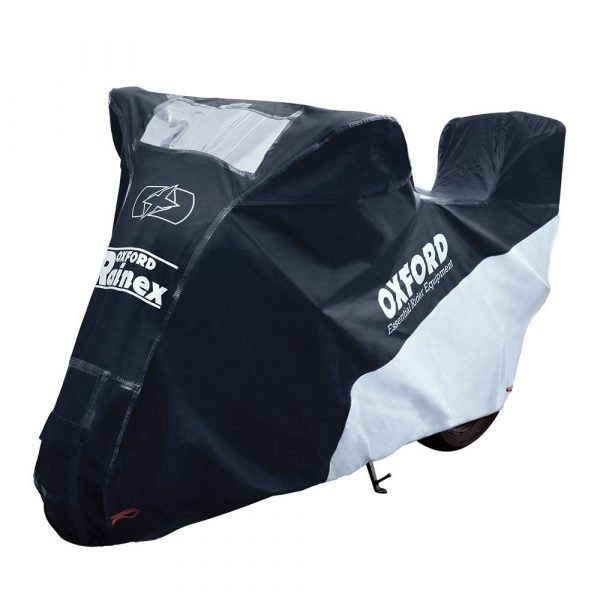 Oxford motorbike covers - Rainex Cover with Top Box Black