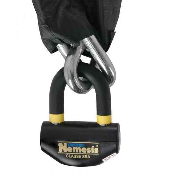 Oxford Nemesis chain & padlock - Oxford 16mm Chain