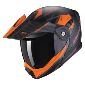 Scorpion ADX-1 Helmet - Tucson Black/Orange colour