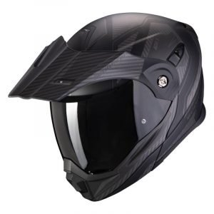 Scorpion ADX-1 Helmet - Tucson Black/Carbon colour, Motorbike Shop
