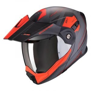 Scorpion ADX-1 Helmet - Tucson Grey/Red colour, UK