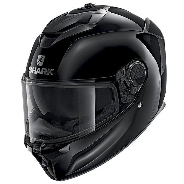 Shark Spartan GT Blank Black Helmet - Motorbike Clothing Shop London