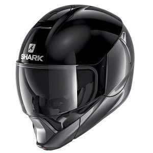 Shark EvoJet Dual Helmet - Blank Matt Anthracite colour