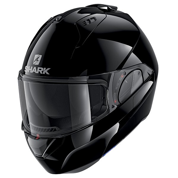 Shark Evo ES Helmet - Blank Black colour, Motorbikes and Scooters Clothing Shop