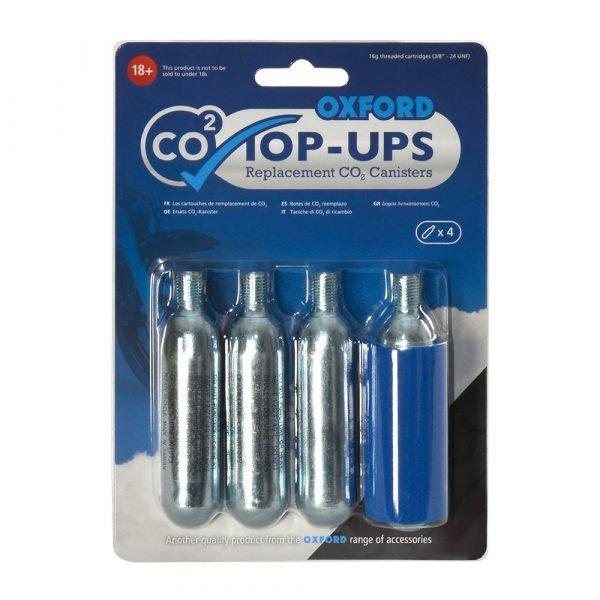 Oxford CO2op-ups (4 pack) - Chelsea Motorbike accessories store, London, UK