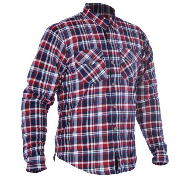 Oxford Kickback Shirt - Checker Red/Blue colour, Motorbike Clothing Shop