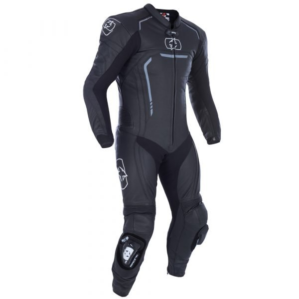 Oxford Stradale Men's 1 Piece Leather Suit - Stealth Black colour, Scooters and Motorcycles Clothing, UK