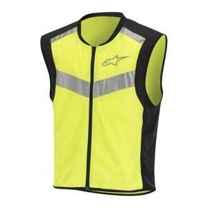 Alpinestars Flare Neon Vest Black & Yellow Fluo
