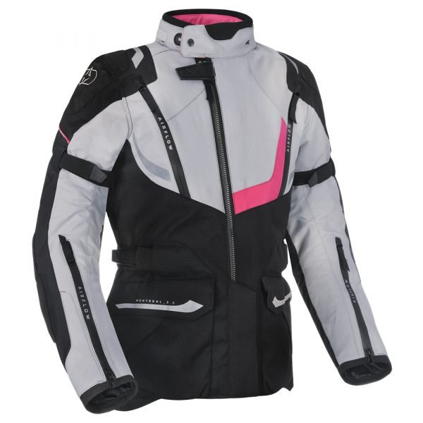 Oxford Montreal 3.0 Women's Jacket - Black/White/Pink colour, CMG Scooters, UK
