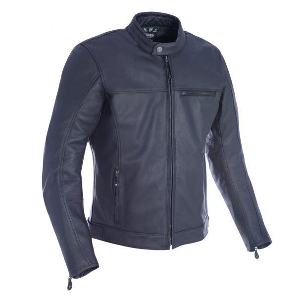 Oxford Men's Walton Leather Jacket Black