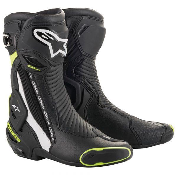 Alpinestars SMX Plus v2 Boots - Black/White/Fluo Green