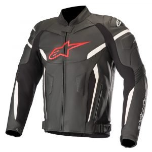 Alpinestars GP Plus R v2 Leather Jacket Black & Red Fluo
