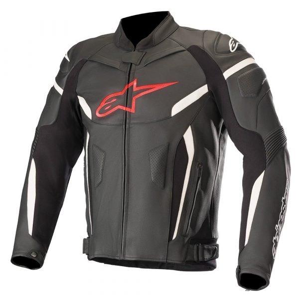 Alpinestars GP Plus R v2 Leather Jacket Black & Red Fluo