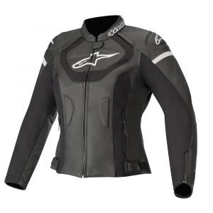 Alpinestars Stella Jaws v3 Leather Jacket - Black colour, Chelsea