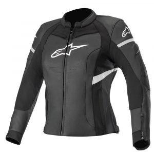 Alpinestars Stella Kira Leather Jacket - Black & White colour, Chelsea Motorcycles Group