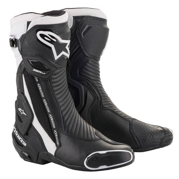 Alpinestars SMX Plus v2 Boots - Black/White, Motorbike Clothing Shop