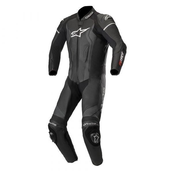 Alpinestars GP Force 1 Piece Leather Suit - Black colour, Motorcycle Clothing Shop