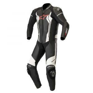 Alpinestars GP Force 1 Piece Leather Suit - Black/White colour, MCS
