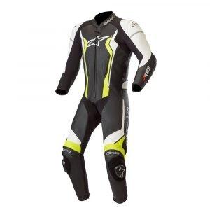 Alpinestars GP Force 1 Piece Leather Suit - Black/Yellow Fluo colour, CMG Shop