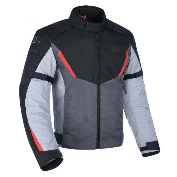 Oxford Delta 1.0 Scooter Jacket - Black/Grey/Red colour, London