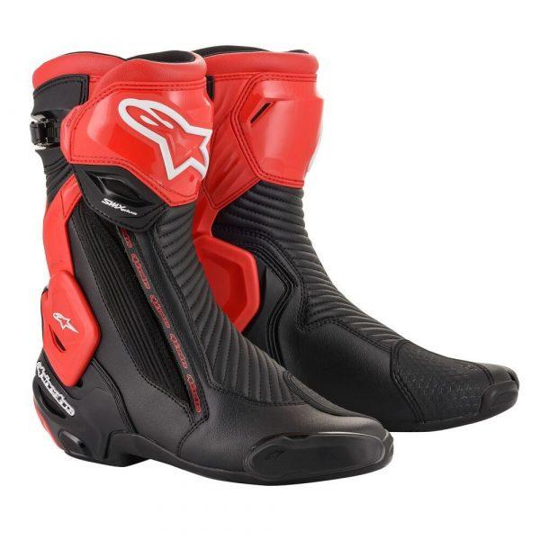 Alpinestars SMX Plus v2 Boots - Black/Red