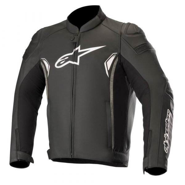 Alpinestars SP-1 v2 Leather Jacket - Black/Dark Grey colour, Chelsea Clothing Store, London, UK
