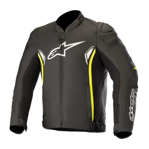 Alpinestars SP-1 v2 Leather Jacket - Black/Yellow Fluo colour, London