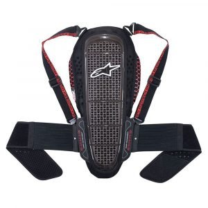 Alpinestars Nucleon Kr-1 Smoke Black & Red Back Protector