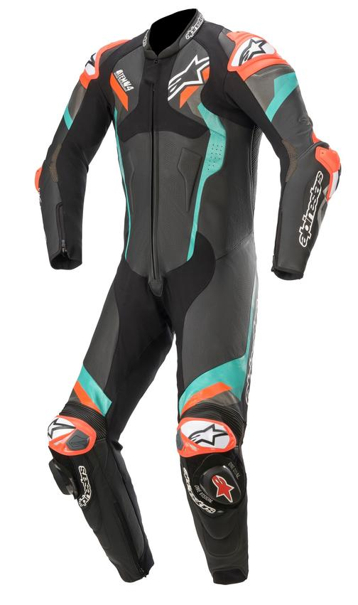 Alpinestars Atem v4 Leather One-Piece Suit - Black/Red/Fluo colour, London, UK