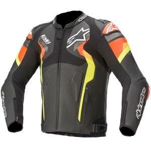 Alpinestars Atem v4 Leather Jacket - Black/Red/Yellow colour