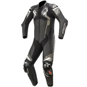 Alpinestars Atem v4 Leather One-Piece Suit - Black/Grey/White, MCS