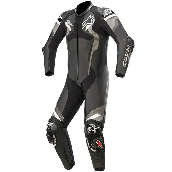 Alpinestars Atem v4 Leather One-Piece Suit - Black/Grey/White, MCS
