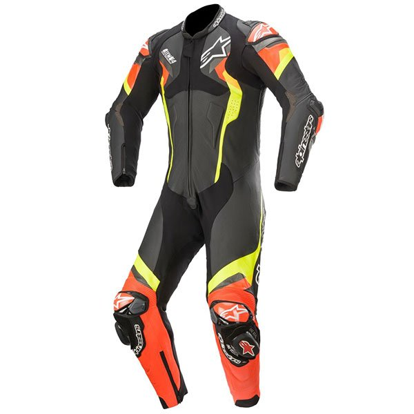 Alpinestars Atem v4 Leather One-Piece Suit - Black/Red/Yellow Fluo colour