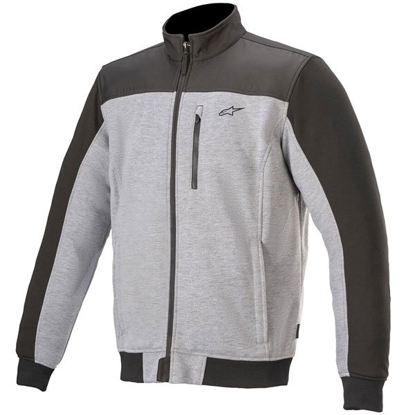 Alpinestars Cafe Track Fleece - Grey Heather/Black colour, MCS